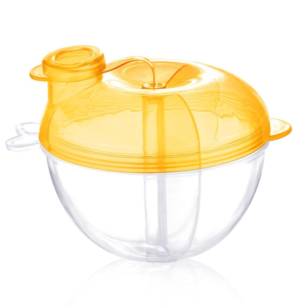 Accmor Baby Milk Powder Formula Dispenser, Non-Spill Formula Dispenser and Snack Storage Container, Yellow.