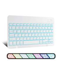 XIWMIX Ultra-Slim Wireless Bluetooth Keyboard - 7 Colors Backlit Universal Rechargeable Keyboard Compatible with iPad Pro/iPad Air/iPad 9.7/iPad 10.2/iPad Mini and Other iOS Android Windows Devices