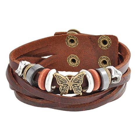 x 1 white MULTISTRAND leather bracelet for snap silver 60 cm