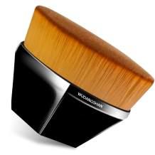 Flawless Foundation Brush for Liquid Makeup,Kabuki Blending Makeup Brush with Travel Case,WDS Flat Top Petal Shaped Base Makeup Brush (Black)