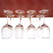 GeLive Upgrade Under Cabinet Wine Glass Hanger Rack, Stainless Steel Stemware Holder for Home, Bar (Hold 8 Glasses)
