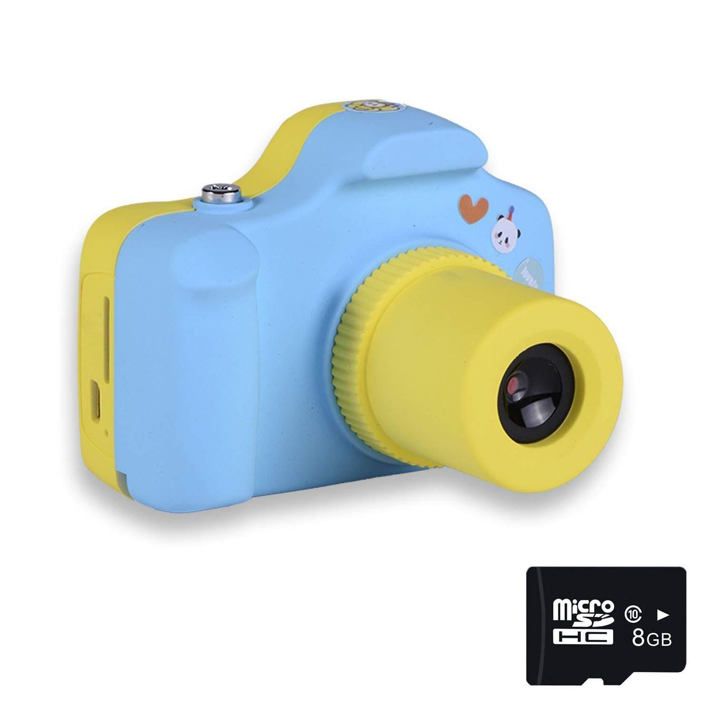 PANNOVO Mini 1.5 Inch Screen Children Kids Digital Camera with 8GB Cards(Blue)