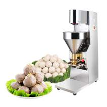 MXBAOHENG Automatic Meatball Making Machine Commercial Electric Meatball Forming Machine Beef Maker Shrimp Fish Ball Machine 200~300kg/h (110V)