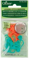 CLOVER Lock Ring Markers 20/pkg Fabric, Each, Multi, Count