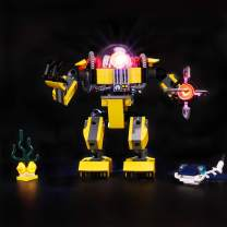 BRIKSMAX Led Lighting Kit for Creator 3in1 Underwater Robot - Compatible with Lego 31090 Building Blocks Model- Not Include The Lego Set