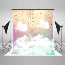 Kate 5x7ft Watercolor Cloud Photo Backdrop Children Photography Backdrops Litter Star Cloud Baby Shower Birthday Party Photo Background