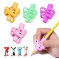 Pencil Grips - BUSHIBU Children Pen Writing Aid Grip Set Posture Correction Tool for Kids Preschoolers Children,Hollow Ventilation (Pack of 4)