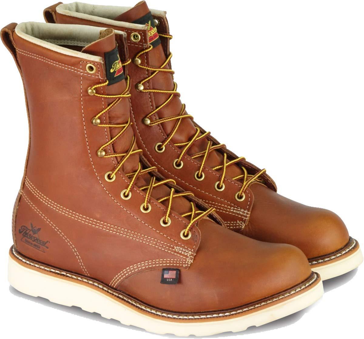 "Thorogood Men's American Heritage 8"" Round Toe, MAXWear Wedge Safety Toe Boot"