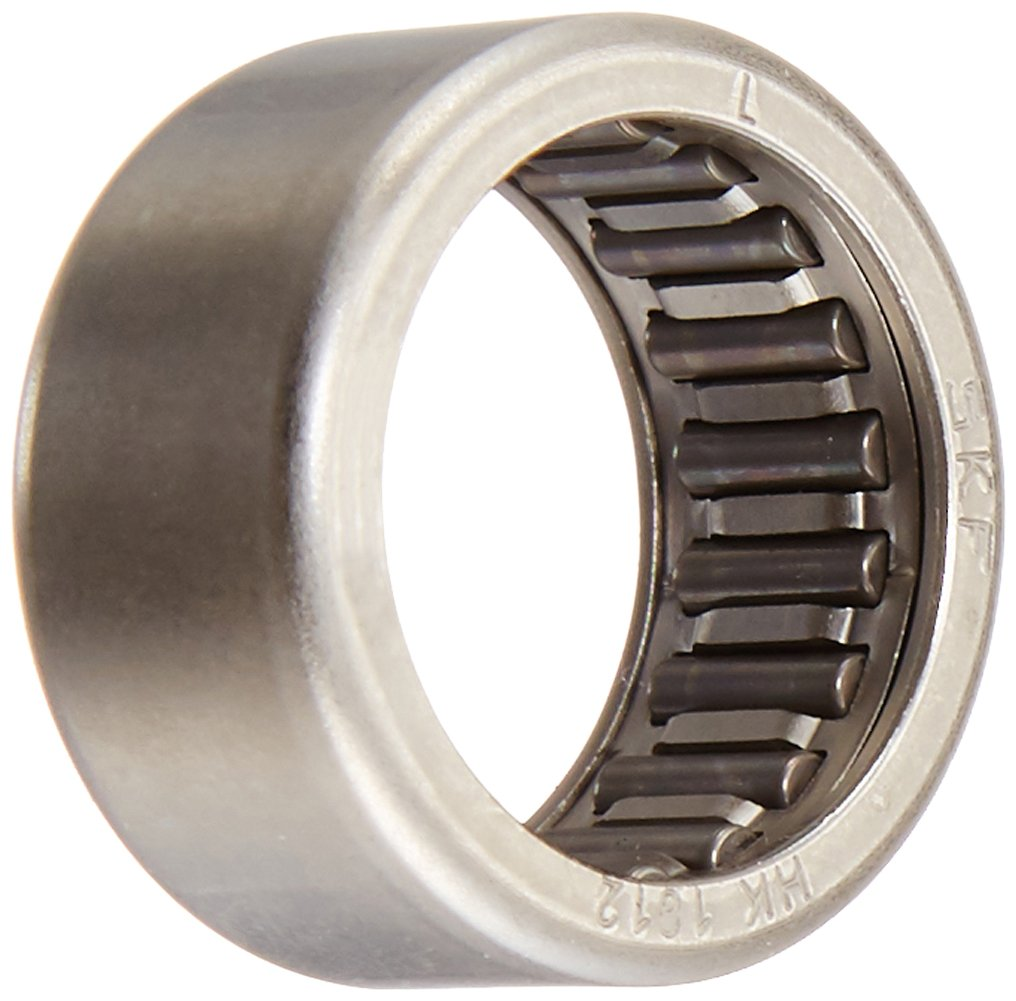 SKF HK 1214 RS Needle Roller Bearing, Caged Drawn Cup, Outer Ring and Roller, Single Seal, 12mm Bore, 18mm OD, 14mm Width