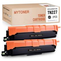 MYTONER Compatible Toner Cartridge Replacement for Brother TN227 TN227BK TN223 for Brother HL-L3210CW HL-L3230CDW HL-L3270CDW HL-L3290CDW MFC-L3710CW MFC-3770CDW Laser Printer Ink (Black, 2-Pack)