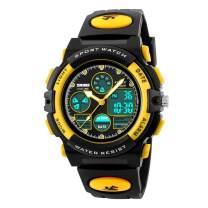 WUTONYU Kids Watch Boys Girls Sports LED Alarm Stopwatch Child Analog Digital 164FT Waterproof Wristwatch