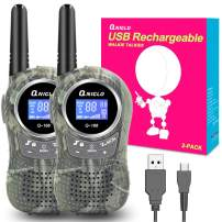 QNIGLO Rechargeable Kids Walkie Talkies, 22 Channel FRS Long Range Walkie Talkies for Kids Toys Gift, Adults Outdoor Camping, Hiking, Cruising