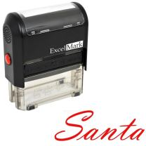 Santa's Signature Rubber Stamp (A1539) - Red Ink