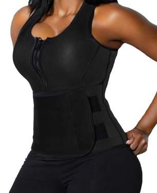 Men/'s Sauna Suit Sweat Vest Waist Trainer Body Shaper Tank Top Neoprene T-Shirt