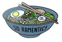 "TINY BEE CARDS -""So Ramentic"" Ramen Soup Pun Hard Enamel Pin"
