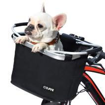 COFIT Collapsible Bike Basket, Multi-Purpose Detachable Bicycle Front Basket for Pet, Shopping, Commuter, Camping and Outdoor