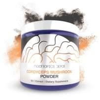 Cordyceps Mushroom Powder | 10:1 Extract | 60 Grams | Cordyceps militaris | Organic Whole Fruiting Body Mushroom Supplement | Supports Healthy Immune System