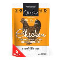 Osso Good Chicken Bone Broth, 6 - 16 Ounce Pouches, High in Protein & Collagen, Ships Frozen, Pack of 6