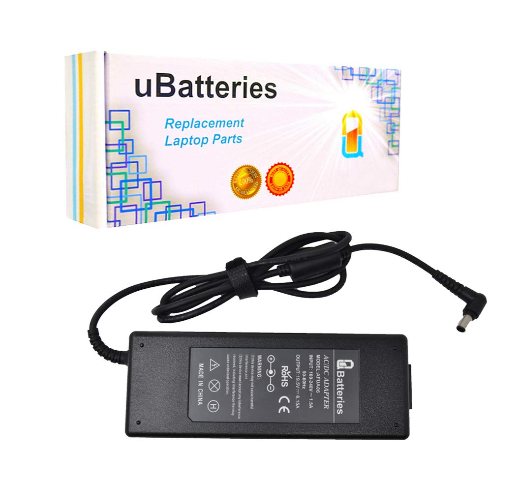 UBatteries Compatible 120W Laptop AC Adapter Charger Replacement for Sony Part# PCGA-AC19V7 VGP-AV19V7 VGP-AC19V15 Fits Sony Vaio SVZ13 VGN-A VGN-AR Series