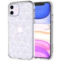 MOSNOVO Geometric Pattern Designed for iPhone 11 Case,Clear Case with Design,TPU Bumper with Protective Hard Case Cover