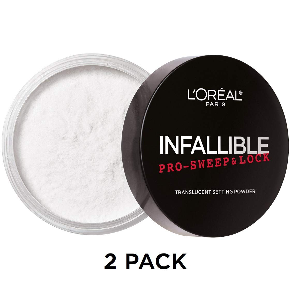 L'Oreal Paris Makeup Infallible Pro Sweep & Lock Loose Setting Powder, Translucent, 2 Count