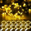 Govee Fairy Lights Battery, 12 Pack Fairy String Lights, 3.3 Feet 20 LEDs Waterproof Flexible Warm Fairy Lights for Wedding Bedroom Christmas Festival Decoration Warm White