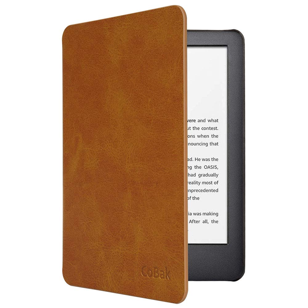 CoBak Case for All New Kindle 10th Generation 2019 Released - Will Not Fit Kindle Paperwhite or Kindle Oasis, Premium PU Leather Smart Cover with Auto Sleep and Wake,Brown