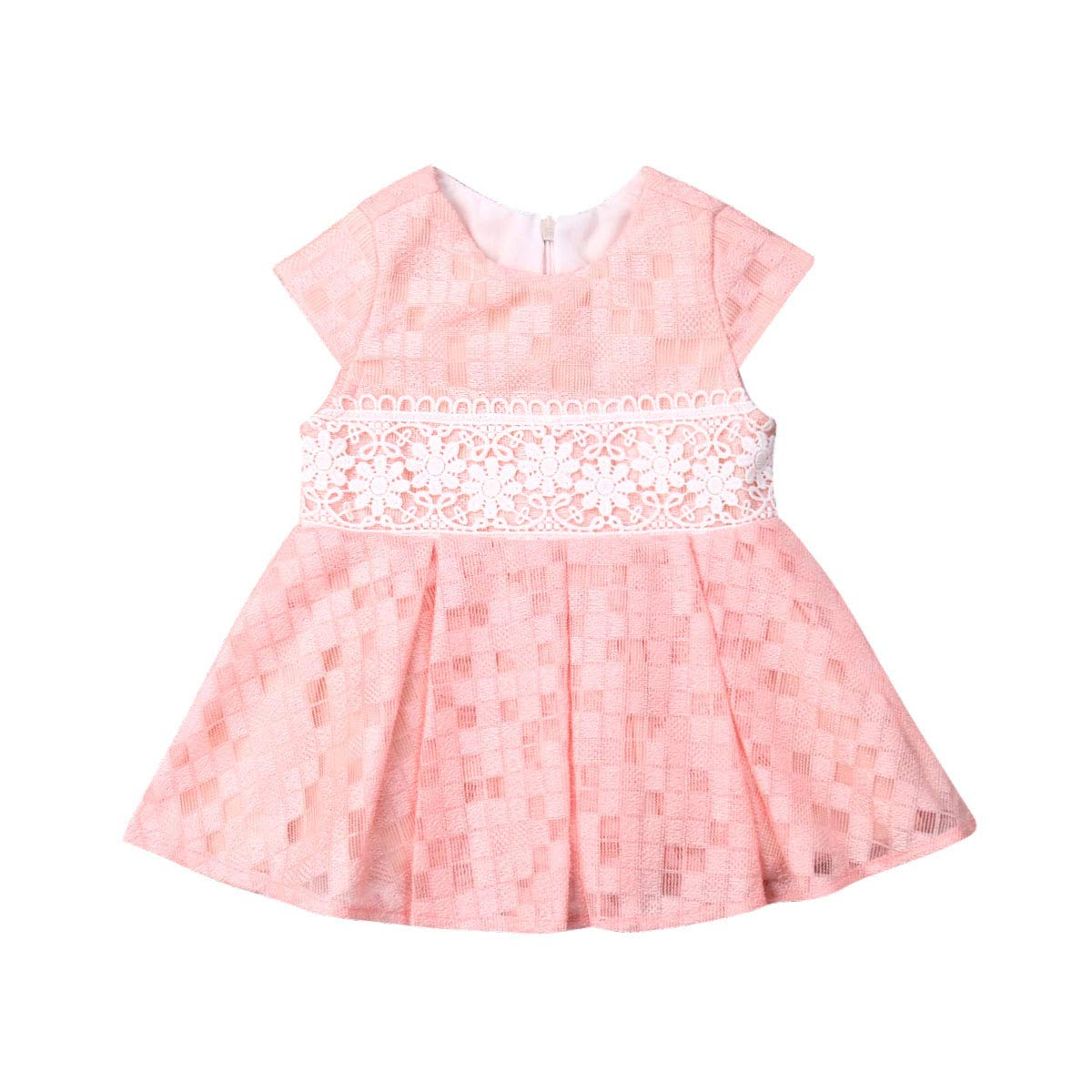 Baby Girls Princess Dresses Vintage Lace Flower Girl Birthday Party Dress