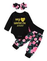 My First Valentine's Day Outfit Set Baby Girls 1st Valentine's Day Romper