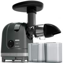 Masticating Juicer, Homgeek Cold Press Juicer with Quiet Motor, Slow Juicer for Vegetables, Wheatgrass and Fruits