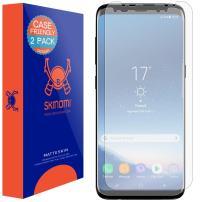 Skinomi Matte Screen Protector Compatible with Galaxy S8 (2-Pack)(Case Friendly) Anti-Glare Matte Skin TPU Anti-Bubble Film