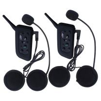 Amazingbuy - 2 Sets Vnetphone V6 BT Intercom Bluetooth Interphone 1200M Range 6 Riders Motorcycle Helmet - Motorcycle Snowmobile Multi Interphone Headsets 6 Riders. Great for Skiing and Riding