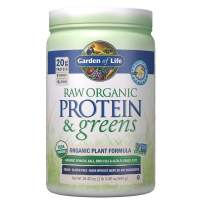 Garden of Life Greens and Protein Powder - Organic Raw Protein and Greens with Probiotics/Enzymes, Vegan, Gluten-Free, Vanilla,19.40 Ounce (Pack of 1) Powder,Package may vary