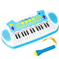 Conomus Piano Keyboard Toy for Age 2 3 4 Year Old Girls First Birthday Gift , 31 Keys Multifunctional Musical Electronic Toy Piano for Toddlers …