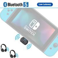 Friencity Bluetooth Audio Transmitter Adapter for Nintendo Switch PS4, USB Type-C Wireless Dongle with Low Latency, Support in-Game Voice Chat, Paired with Airpod, Bose, Sony Headphone, Plug n Play