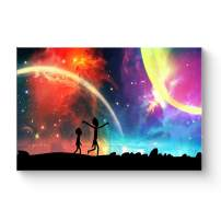 "HAOSHUNDA HSD Wall Art Rick and Morty Posters On Canvas Oil Painting Posters and Prints Decorations Wall Art Picture Living Room Wall Ready to Hang 12"" x 18"" 16"" x 24"" (12""x18""x1, Artwork-9)"