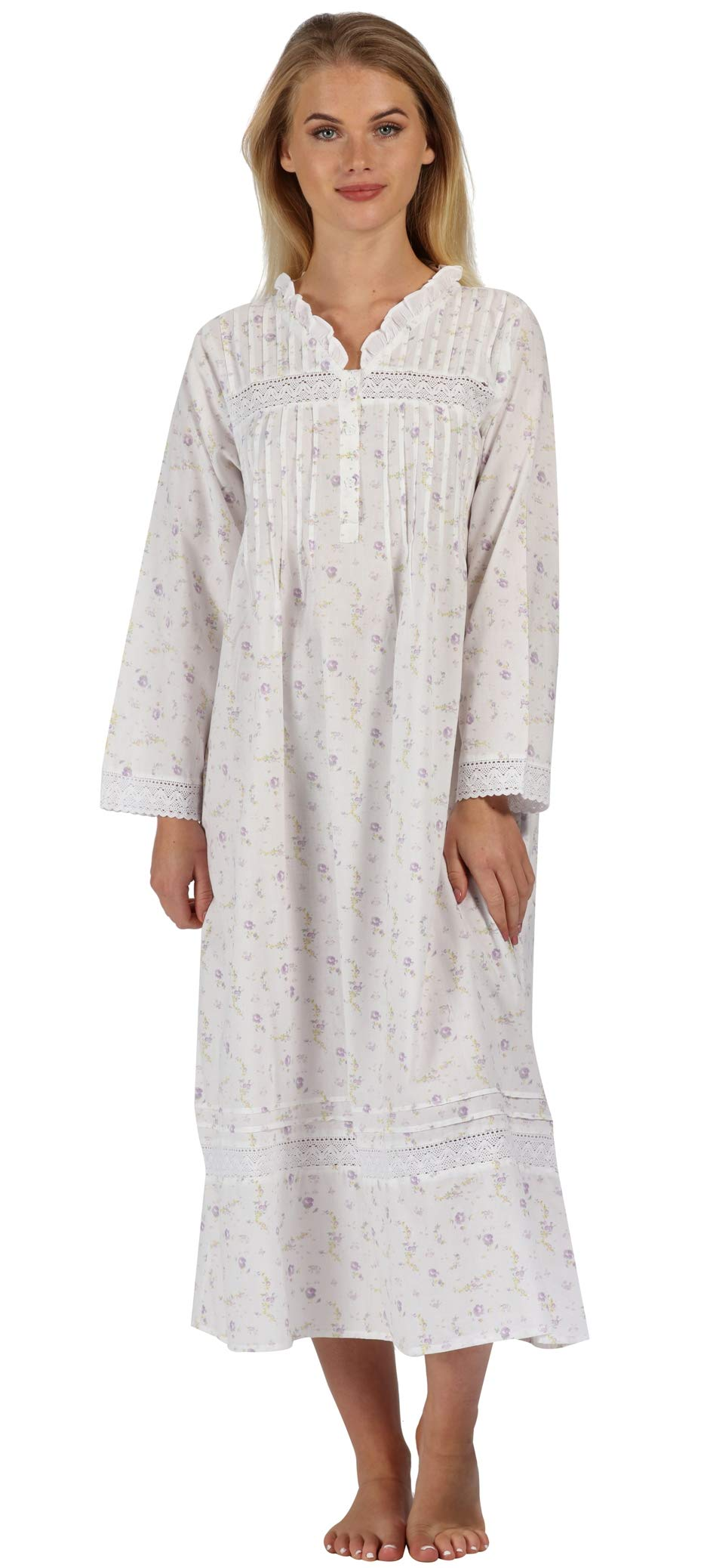 The 1 for U 100% Cotton Nightgown Vintage Design - Annabelle