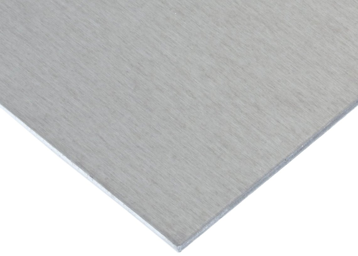 "5086 Aluminum Sheet, Unpolished (Mill) Finish, H32 Temper, ASTM B209/ASME SB209/AMS QQ-A 250/7, 0.125"" Thickness, 12"" Width, 24"" Length"