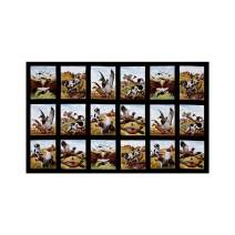 Elizabeth's Studio Black Sports Afield Bird Hunting 23in Panel Fabric
