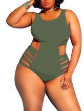 Nulibenna Womens Plus Size Cutout Swimsuit One Piece High Waisted Swimwear Bandage Tummy Control Monokini