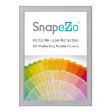 SnapeZo Silver Poster Frame A1 Size, 1.2 Inch Aluminum Profile, Front-Loading Snap Frame, Wall Mounting, Premium Series