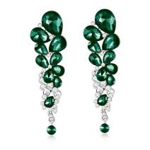 Jewels Galaxy Crystal Elements Designer Copper Drop Earring for Women