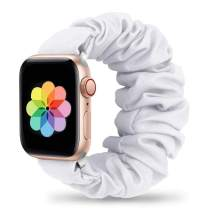 Huishang Scrunchie Band Compatible with Apple Watch 42mm 44mm,Soft Women Replacement Elastic Wristband for Apple iWatch Series 6 SE 5 4 3 2 1