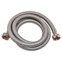 Eastman 48368 Stainless Steel Washing Machine Hose, 5 Ft Length, Silver