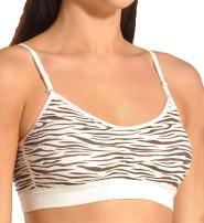 Coobie Seamless Scoopneck Bra,Zebra Ivry/Brwn,One Size