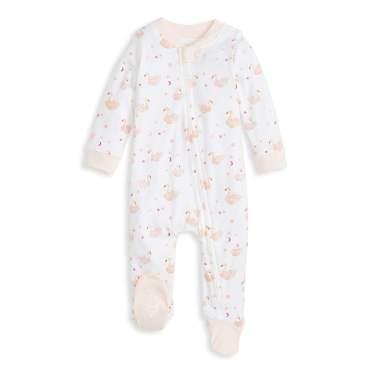 Organic One-Piece Romper-Jumpsuit Pj Zip Front Footed Pajama Burts Bees Baby Baby Sleep /& Play
