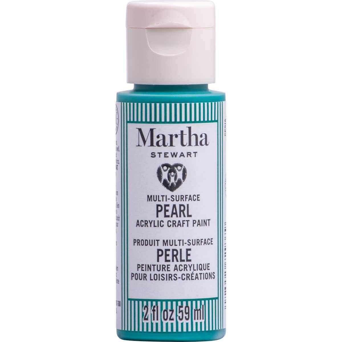 Martha Stewart Crafts 72937 Family Friendly Multi-Surface Pearl Acrylic Craft Paint, Oasis Teal