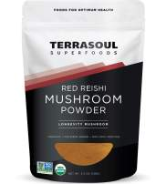 Terrasoul Superfoods Organic Reishi Mushroom Powder (4:1 Extract), 5.5 Oz - Immune Boosting | Coffee Enhancer | Deeper Sleep
