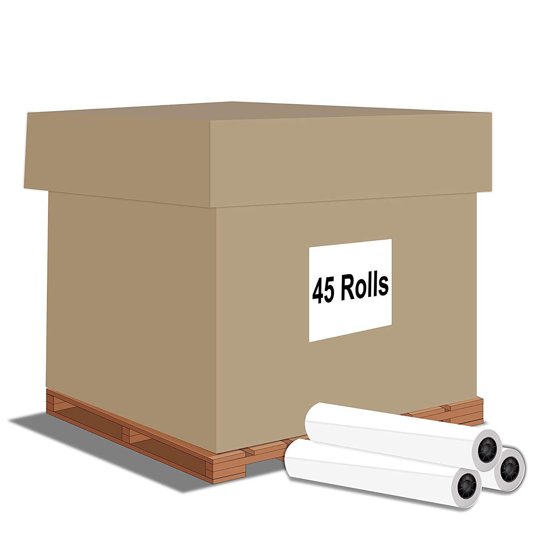 """Alliance Paper Rolls, Bond Engineering, 22"""" x 500' x 3"""" core, 92 Bright, 20lb – 45 Roll Bin, Ink Jet Bond"""