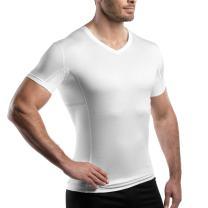 laulas Sweatproof Men's Undershirt, Sewn-in Pocket for Exchangeable Sweat Pads